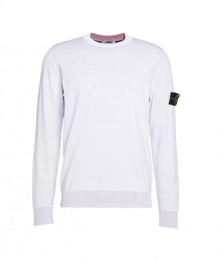 Stone Island Reversibler Pullover Weiß
