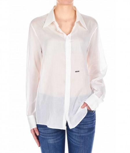 Dsquared2 Blouse semi-transparent white