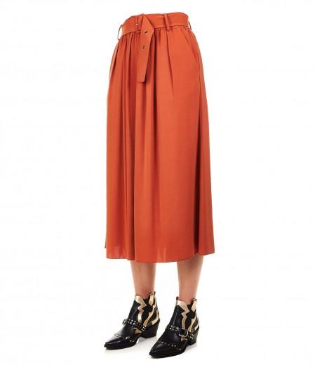 """Silvian Heach Midi skirt """"Lalef"""" brown"""