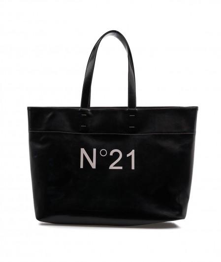N°21 Maxi Shopper mit Logo Schwarz