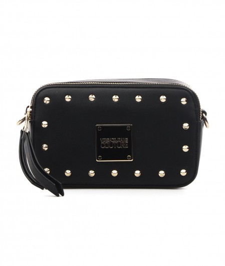 Versace Jeans Couture Mini crossbodybag with studs and logo bagdge black