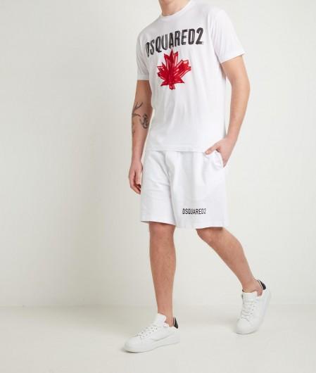 Dsquared2 T-Shirt mit Logodruck Weiß