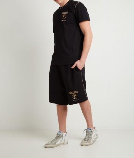 Moschino T-Shirt mit Logo Schwarz