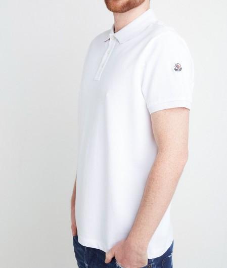 Moncler Polo mit Logopatch Weiß