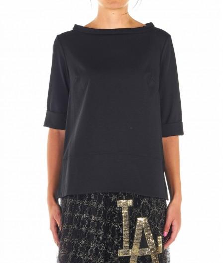 Babel Shirt mit Seitenschlitz Schwarz