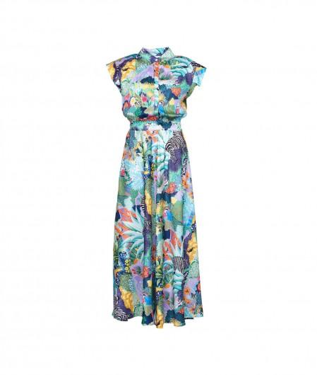5 Progress Langes Kleid im Print Bunt
