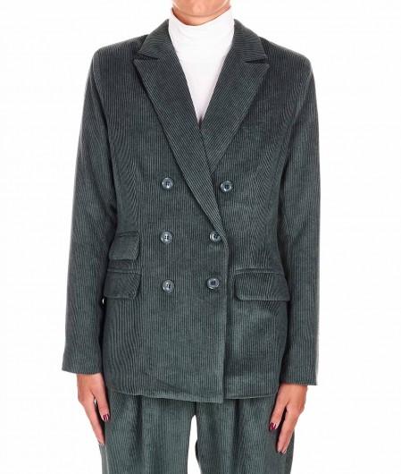 "Silvian Heach Corduroy blazer ""Mappadis"" dark green"