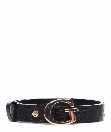 Guess Belt in reptile look black