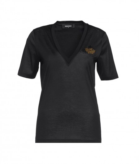 Dsquared2 T-shirt with logo black
