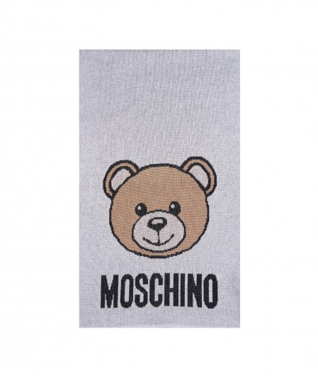 Moschino Scarf with teddy silver