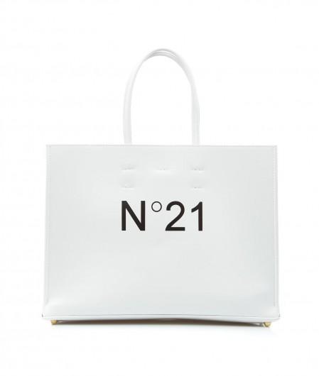 N°21 Shopper with logo white