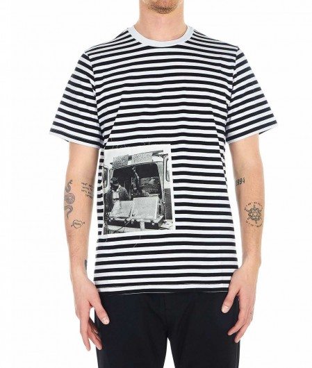 Department Five Striped T-shirt black