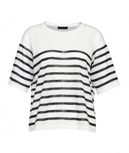 Roberto Collina Shirt mit Streifen Weiß