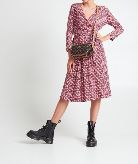 Guess Dress with geometric pattern pink