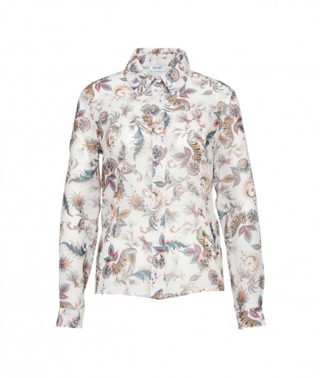 Liu Jo Blouse with floral print creme