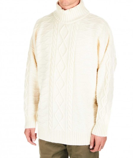 Represent Oversized sweater in wool blend beige