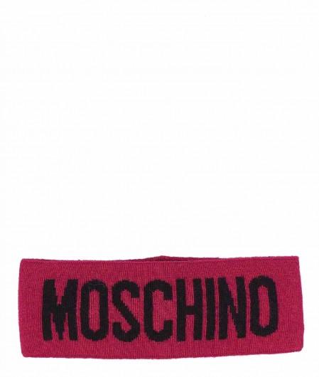 Moschino Stirnband mit Logoschriftzug Pink