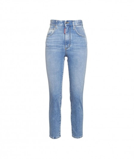 Dsquared2 Jeans with strass applications light blue
