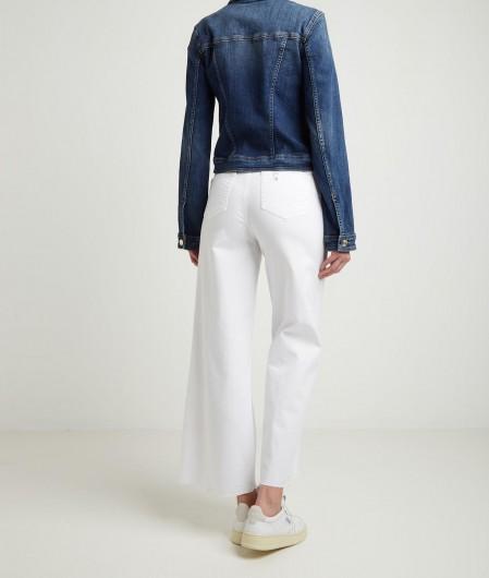 Liu Jo Flare jeans with fringed hem white