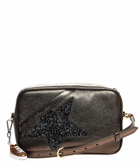 "Golden Goose ""Star Bag"" with applicated Swarovski metallic"