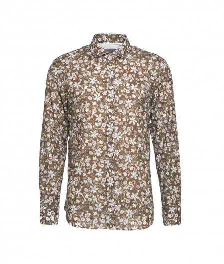 """Bastoncino Floral shirt """"Simo"""" brown"""