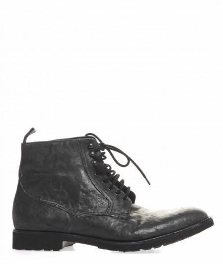 Metello Leather lace ups dark gray