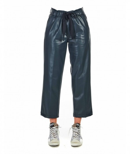 """Cambio Faux leather pants """"Colette"""" green"""