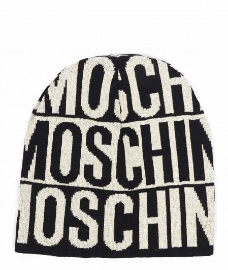 Moschino Mütze mit Logoschriftzug Schwarz