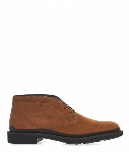 Tod's Desert boots with elastic strap light brown