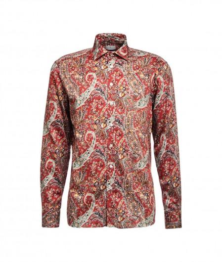 Etro Hemd mit Paisley-Druck Rot