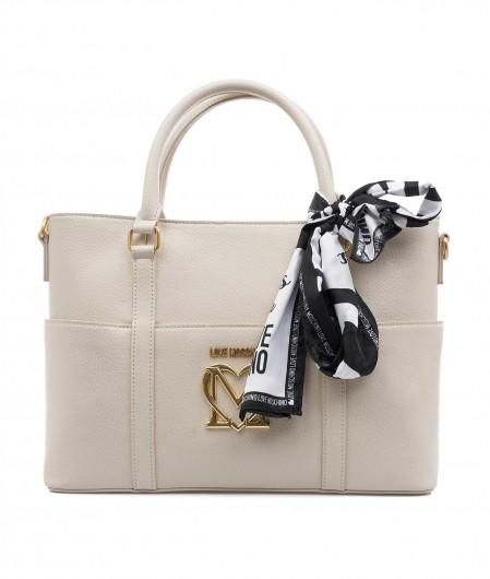 Love Moschino Handbag with logo patch beige