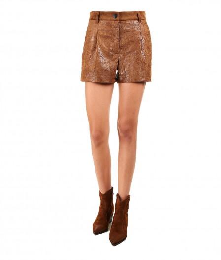 """8PM Shorts in velluto """"Aludra"""" marrone chiaro"""