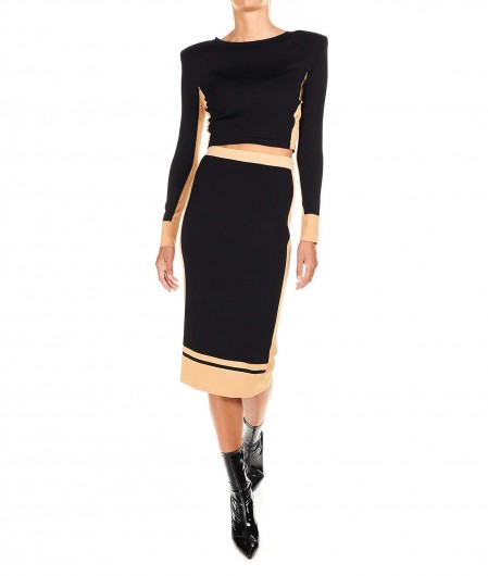 Elisabetta Franchi Two-piece set with skirt and top black