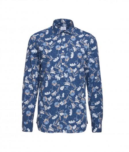Bastoncino Hemd mit floralem Muster Blau