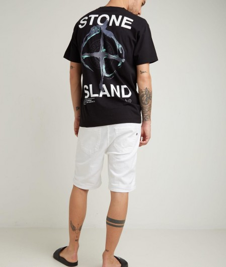 Stone Island T-shirt with logo black