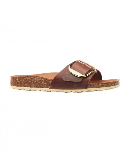 Birkenstock Madrid Big Buckle Slides light brown