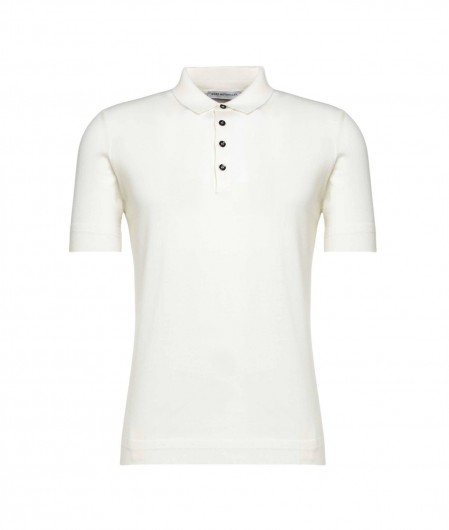 Goes Botanical Polo in merino wool white