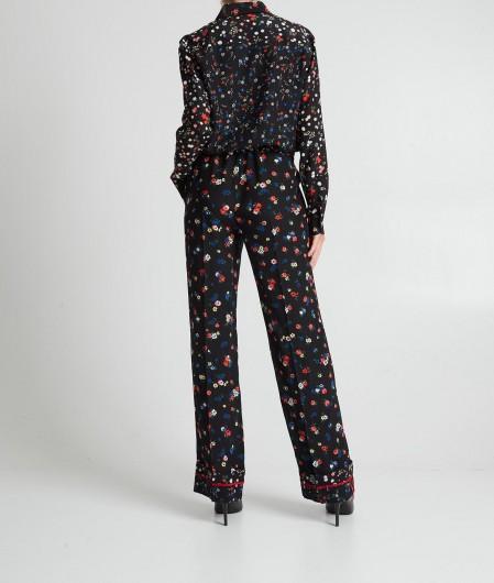 RED Valentino  Jumpsuit im floralem Print Schwarz
