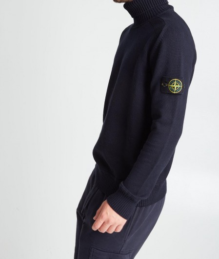 Stone Island Turtleneck sweater navy