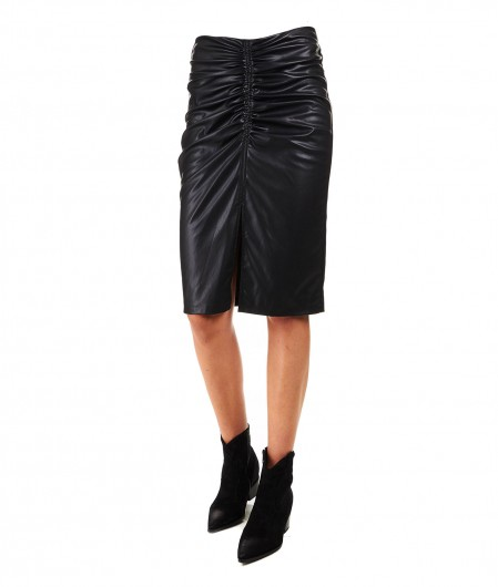 "8PM Pencil skirt in faux leather ""Gomeisa"" black"