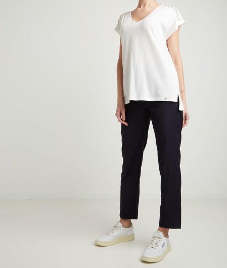 Kaos T-shirt with studs white