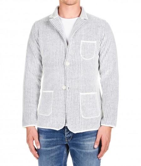 Albarena Blazer in ribbed knit white