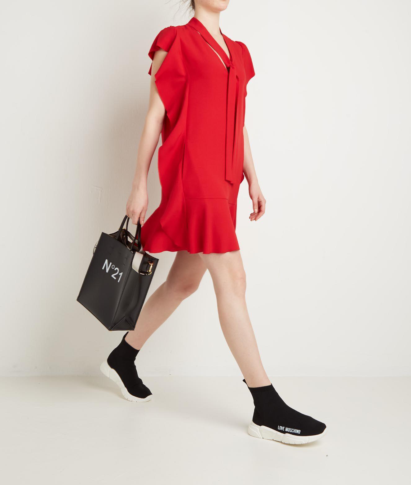 RED Valentino Kleid aus Satin Crepe mit ...