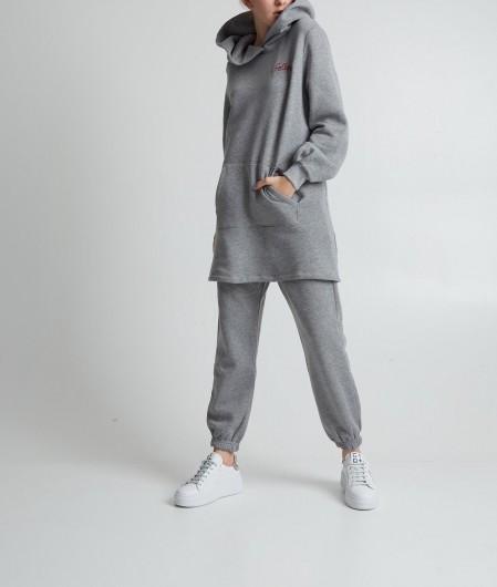 "Follovers Hoodie dress ""Krysta"" gray"