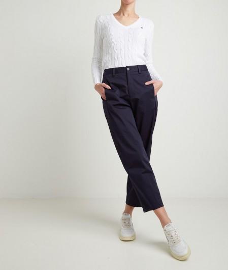Polo Ralph Lauren Pullover im Zopfstickmuster Weiß