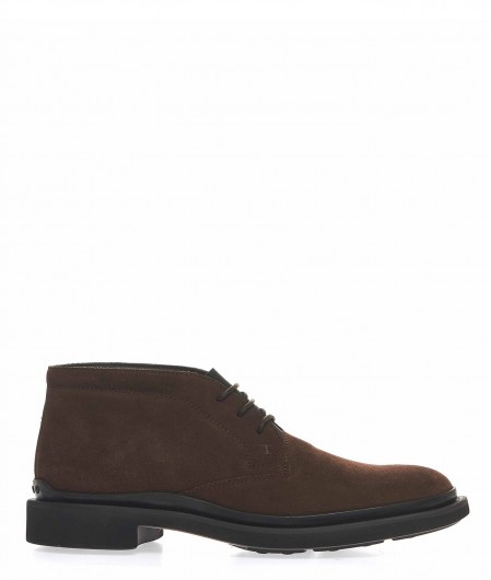 Tod's Desert boots with elastic strap dark brown