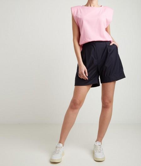 Kaos Top with shoulder pads pink