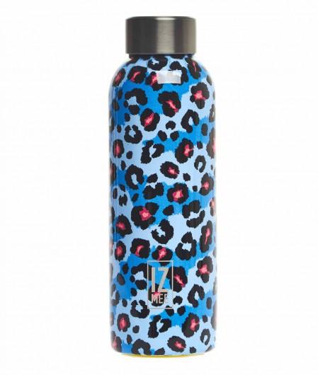 """Izmee Thermos-Trinkflasche """"fluo pard"""" Blau"""