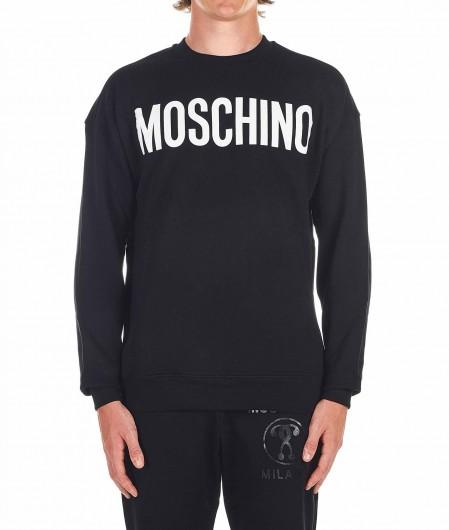 Moschino Sweatshirt mit Logoschrifftzug Schwarz