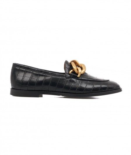 Gio+ Loafer in croco look black